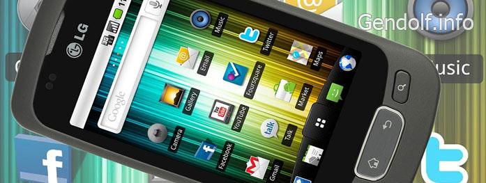 Прошивка смартфона LG p500