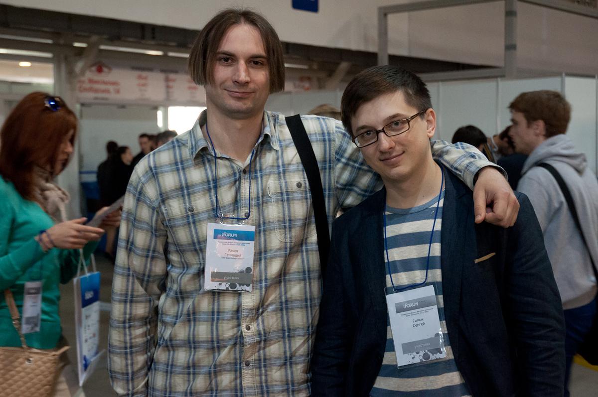 Раков Геннадий (автор Gendolf.info) и Сергей Гилюк на iForum 2014