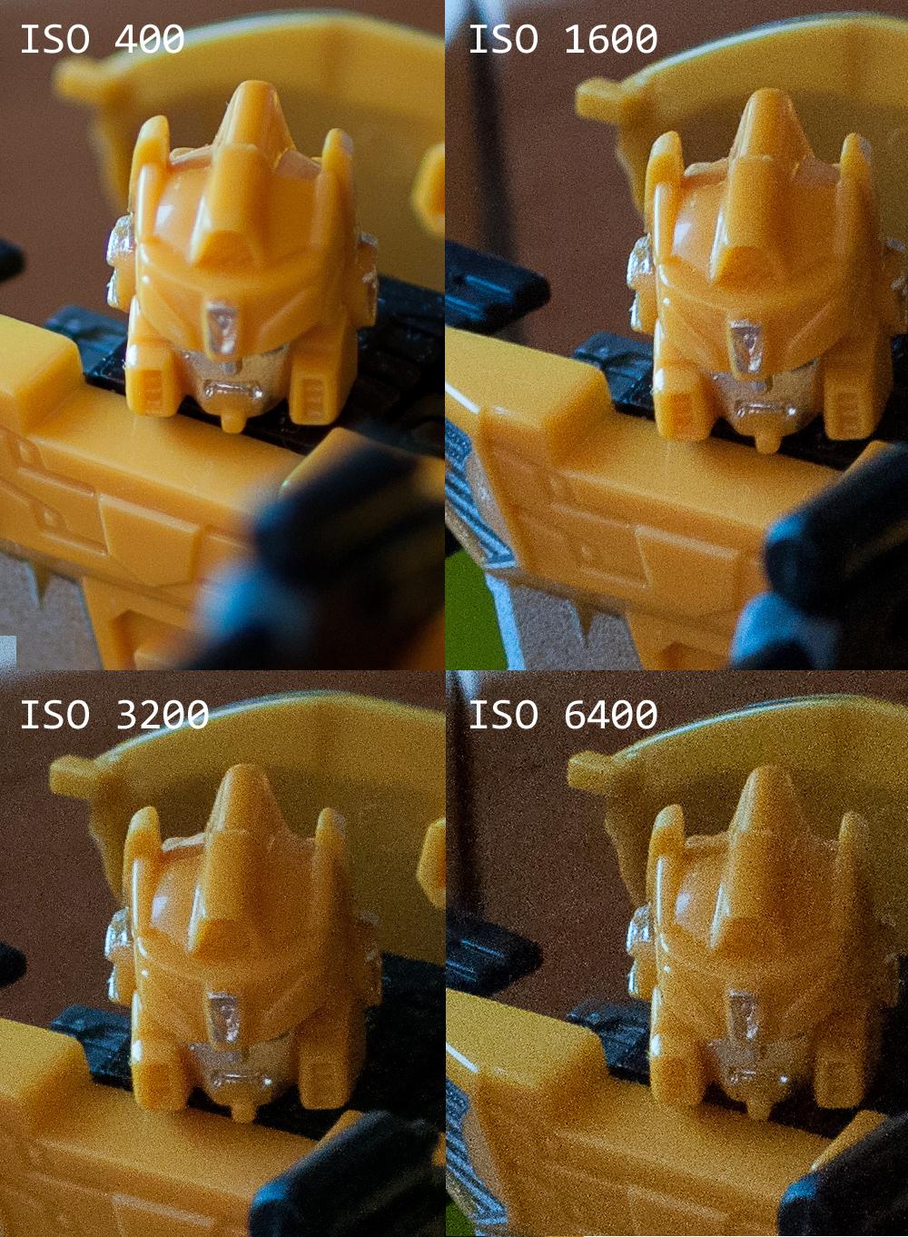 Снижение детализации снимка из-за высоких значений ISO