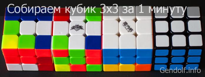 Инструкция по сборке кубика Рубика за 1 минуту