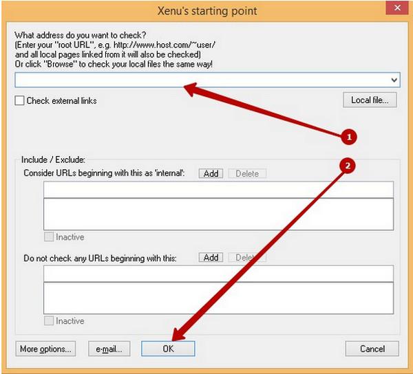 Xenu для проверки сайта на наличие битых ссылок